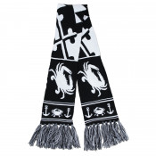 Black & White Crab - Knit Scarf