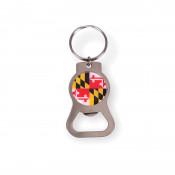 Maryland Flag Circle Bottle Opener