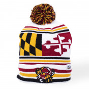 Maryland Crab Flag Pom Beanie