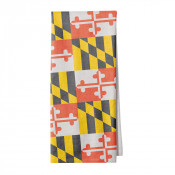 Maryland Flag Pattern Kitchen Towel
