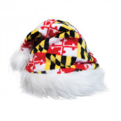 Maryland Flag Santa Hat