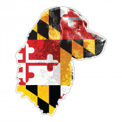 Maryland Flag Dog Sticker
