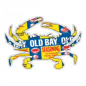 OLD BAY® - Can Pattern Crab Sticker