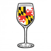 Maryland Flag Wine Sticker